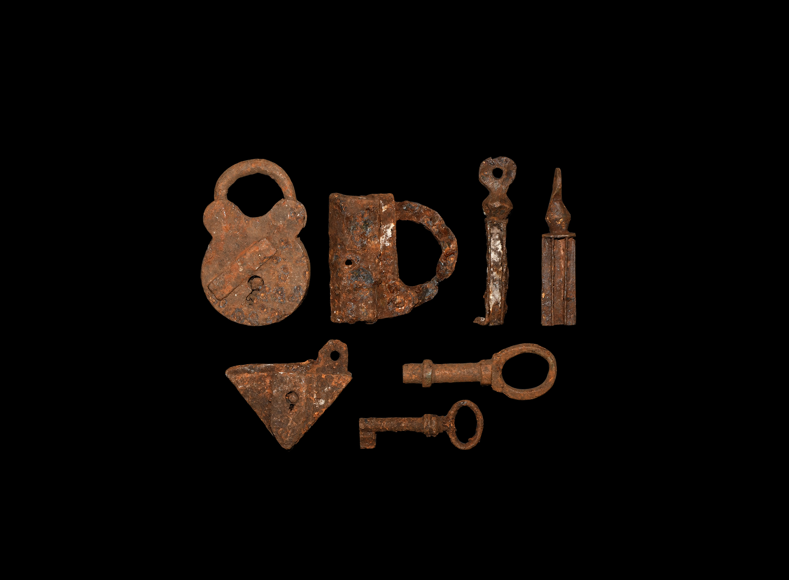 Lot 2889 - Medieval and Later Lock and Key Group