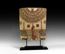 Egyptian Painted Cartonnage with Isis