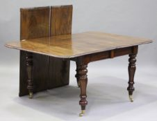 A William IV mahogany extending dining table, in the manner of Gillows of Lancaster, the pull-out