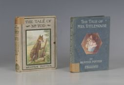 CHILDREN'S BOOKS. - Beatrix POTTER. The Tale of Mr. Tod. London: Frederick Warne and Co., 1912.