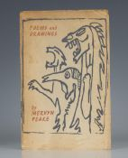 PEAKE, Mervyn. Poems and Drawings. London: Keepsake Press, 1965. First edition, first issue, limited