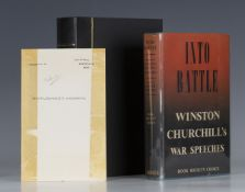 CHURCHILL, Winston S. Into Battle. London: Cassell and Company Ltd., 1941. First edition, with a