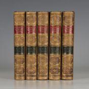 BROWNING, Elizabeth Barrett. Poetical Works. London: Smith, Elder & Co., 1886. 5 vols., 8vo (161 x