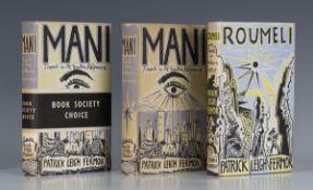 TRAVEL. - Patrick Leigh FERMOR. Mani. London: John Murray, 1958. First edition, second printing, 8vo