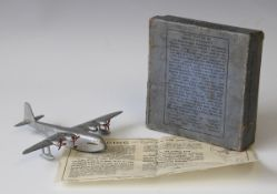 A post-war Dinky Toys No. 60R Empire Flying Boat 'Cambria G-ADUV', with a pre-war box and