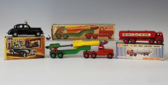 A Morestone Series No. 1 Foden petrol tanker 'Esso', boxed, a Modern Product Police Car with