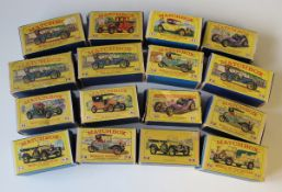 A collection of sixty-six Matchbox Models of Yesteryear vehicles, including six No. 3 tram cars, two