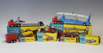 A Corgi Major Toys No. 1101 'Carrimore' car transporter and a No. 1104 'Carrimore' detachable axle