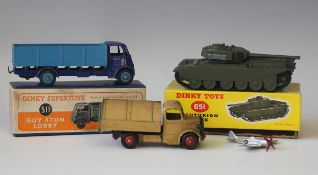 A Dinky Supertoys No. 511 Guy 4-ton lorry, first type, finished in duo blue, boxed, a No. 651