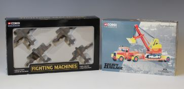 A small collection of Corgi Classics vehicles, including a Heavy Haulage No. 31010 Scammell