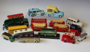 A large collection of modern diecast commercial, public transport and military vehicles, including