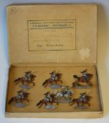 An F.C. Neckel set of tin figures 1809-1815 Francia Cuirassiers advancing, boxed (box creased,
