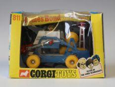 A Corgi Toys No. 811 James Bond Moon Buggy, within a window box (box creased and scuffed, box window