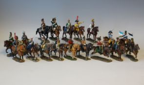 A collection of approximately 200 Del Prado Napoleonic figures, including cavalry and infantry, with