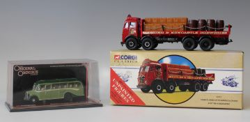 A collection of diecast vehicles, including a Corgi Classics No. 97317 Foden flatbed lorry 'Scottish