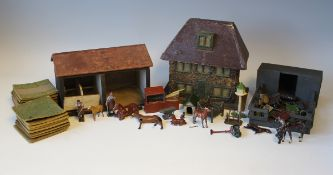 A collection of Britains and other lead farm and garden series livestock, figures and accessories,