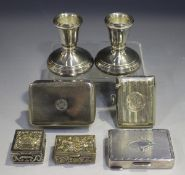 A George III silver rectangular snuff box with engine turned decoration, London 1812 by John