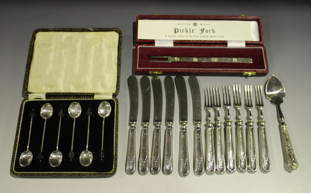 An Elizabeth II silver replica of the first English Pickle Fork, Sheffield 1979 by Francis Howard