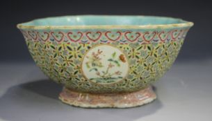 A Chinese famille rose enamelled porcelain bowl, mark of Xianfeng but probably later 19th century,