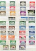 Aden, Antigua and Ascension in stock book, with fairly complete mint collection up to 1960s with