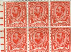 An album containing Great Britain Edward VII 1911 Harrison Printers of ½d and 1d with controls,