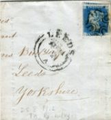 A small group of various Victoria stamps on stock cards, including two 1840 2d blue, one on part