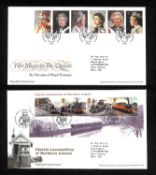 Seven albums of Great Britain first day covers up to 2015, including 2012 London Olympics and some