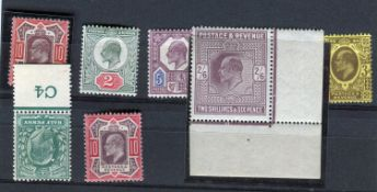 A Great Britain Edward VII mainly mint collection with specialised shades, varieties, different