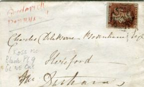 An album of Great Britain postal history from 1841 1d red brown (black plates 9, 10 and 11),