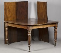 A William IV mahogany extending pull-out dining table, in the manner of Gillows of Lancaster, the