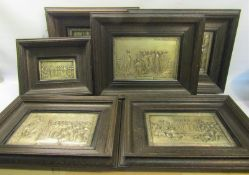 A series of six framed Henning plaques, subjects include Jesus & Simon after Raphael, Paul &