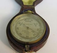 A late 19c pocket aneroid barometer by F Darton & Co. London with altitude scale to 8000 feet. The