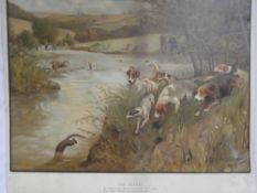 "A coloured lithograph ""The Otter"" after Lionel Edwards,"