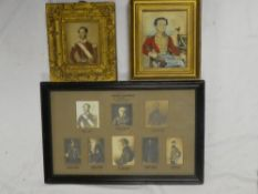 Two 19th Century miniature watercolours of military officers including watercolour portrait of