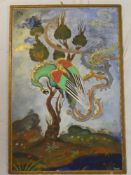 "Darvish - watercolour/gouache ""Shimurgh is on the tree called Guz"", signed,"