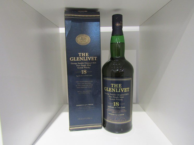 Lot 7009 - The Glenlivet George Smith's Original 1824 Pure Malt Scotch Whisky aged 18 years,