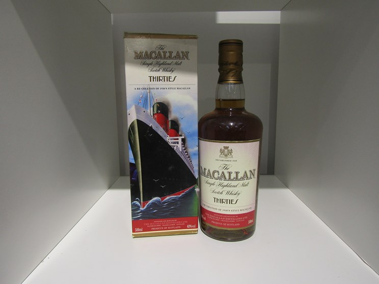 Lot 7014 - The Macallan Single Highland Malt vintage travel collection Thirties, 1930's,