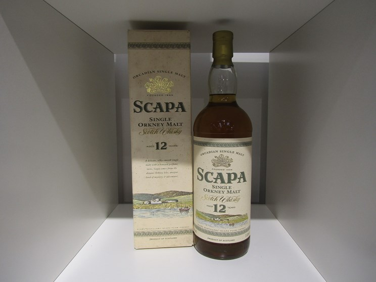 Lot 7027 - Scapa 12 years Old Orcadian Single Orkney Malt Scotch Whisky,