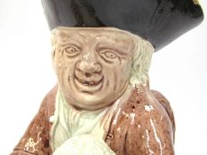A late 18th Century Ralph Wood type Staffordshire Toby Jug, modelled as Admiral Lord Howe,