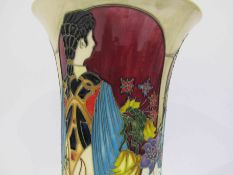 A Moorcroft Flower Maidens Trial pattern vase, designed by Paul Hilditch,