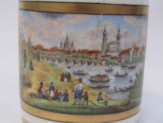 A Dresden chocolate cup and cover,