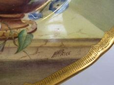A hand painted Royal Worcester cabinet plate by H.H.