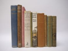 A collection of nine Ornithology titles, mainly association copies,