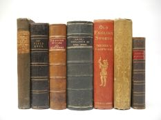 Seven Sporting books including 'Sporting Anecdotes', 1807; 'Book of Archery',