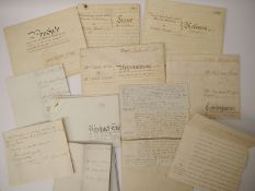 Twelve vellum and other documents 1792-1895, relating to property in Westleton, Suffolk,