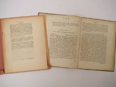 Two articles by Gilbert White, as published in 'The Philosophical Transactions of the Royal