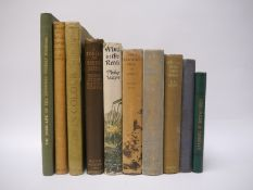 A collection of nine Ornithology titles, mainly association copies, comprising E.W.