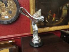 A reproduction oversized Rolls Royce car mascot,