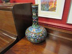 A Chinese enamel cloisonné bottle shaped vase,