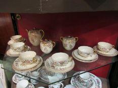 A Victorian Japanese Satsuma coffee set,